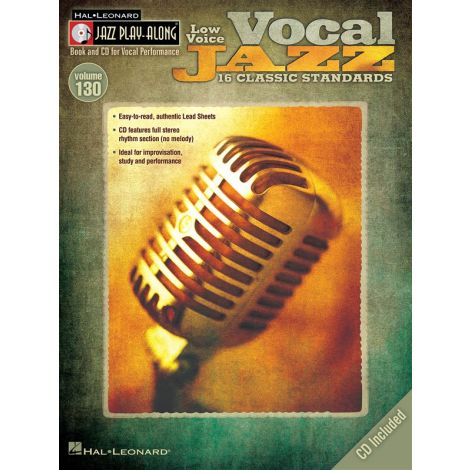 Jazz Play-Along Volume 130: Vocal Jazz (Low Voice)