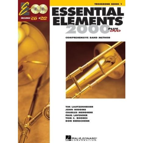 Essential Elements 2000 Trombone Book 1 (Book + CD + DVD)