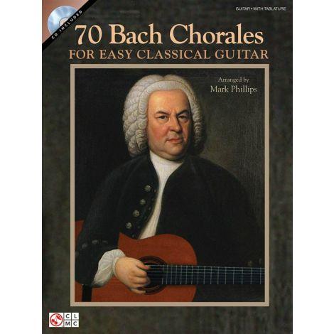 Johann Sebastian Bach: 70 Bach Chorales For Easy Classical Guitar