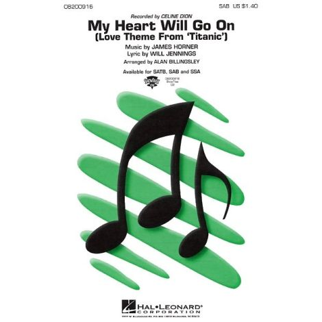 James Horner: My Heart Will Go On (Love Theme From Titanic) - SAB