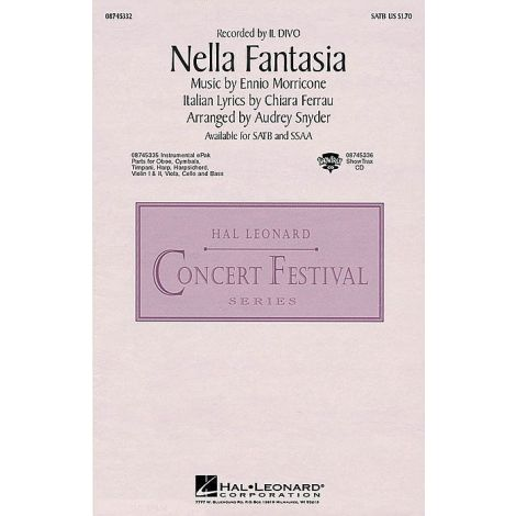 Ennio Morricone/Chiara Ferrau: Nella Fantasia (In My Fantasy) - SSAA
