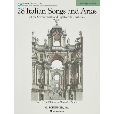 28 Italian Songs And Arias Of The 17th And 18th Centuries - Medium Low Voice (Book/Online Audio)