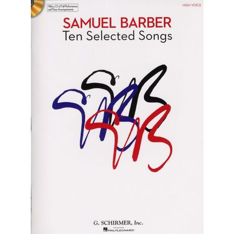 Samuel Barber: Ten Selected Songs - High Voice (Book and CD)