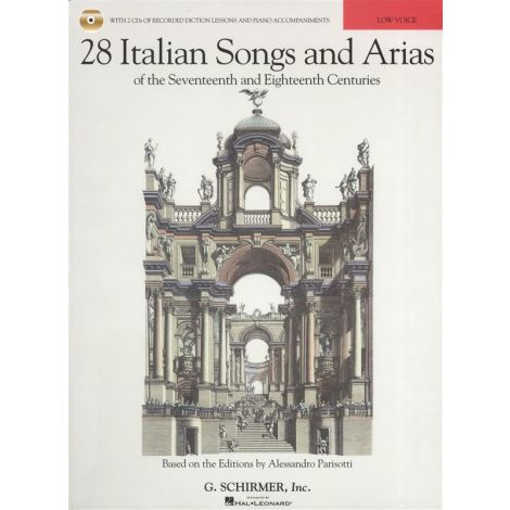 28 Italian Songs And Arias Of The 17th And 18th Centuries - Low Voice (Book/2 CDs)