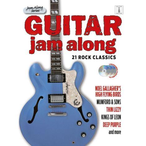 Guitar Jam Along: 21 Rock Classics (Book/3CD)