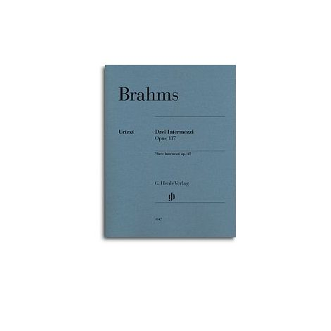 Brahms: Three Intermezzi Op.117 (Henle Urtext)