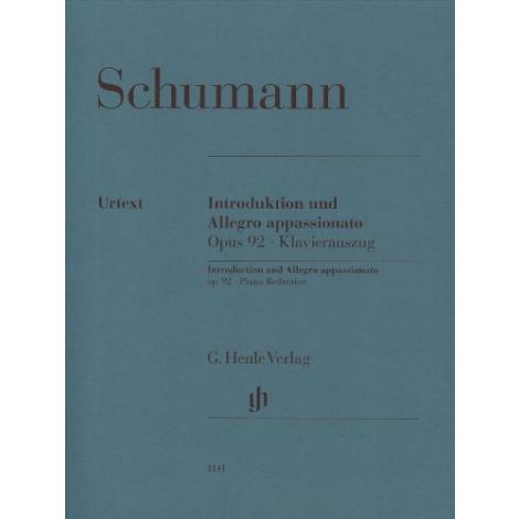 Schumann: Introduction and Allegro Appassionato Opus 92 (Piano Reduction) (Henle Urtext)