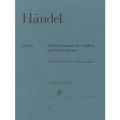 Handel: 7 Sonatas for Violin and Basso Continuo (Henle Urtext)
