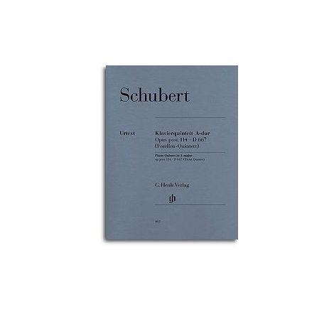 Franz Schubert: Quintet In A Op. Post.114 D.667 'Trout Quintet' (Henle Urtext)