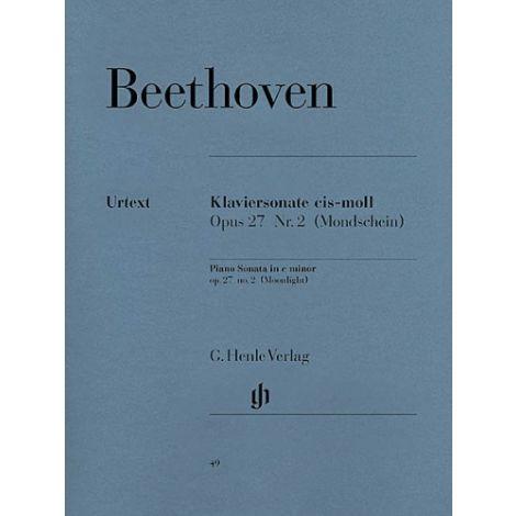 Beethoven: Piano Sonata no.14 in C# Minor Opus 27 no.2 闂備胶鍋ㄩ崕鏌ュ矗閹插兌nlight闂 (Henle Urtext)