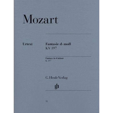 Mozart: Fantasy (Fantasia) in D Minor, K.397 (Henle Urtext)