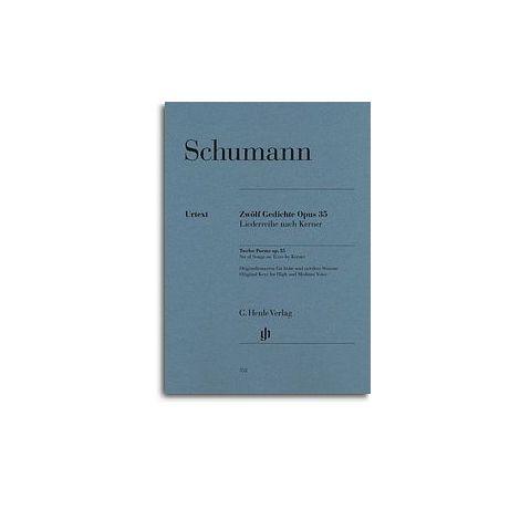 Robert Schumann: Twelve Poems Op. 35, Set Of Songs On Texts By Kerner (High/Medium Voice) (Henle Urtext)