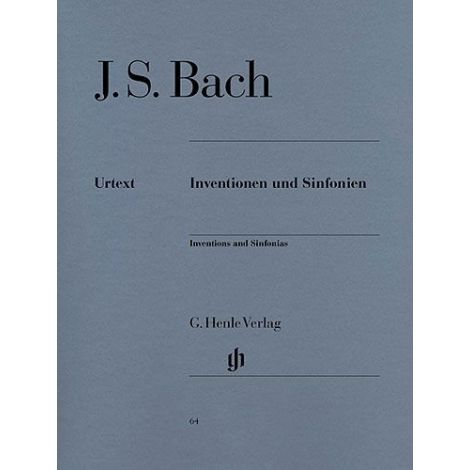 Bach: Inventions and Sinfonias BWV 772-801 (Henle Urtext)