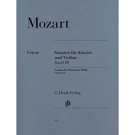 Mozart: Violin Sonatas - Volume 3, Violin/Piano (Henle Urtext)