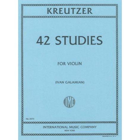 Kreutzer: 42 Studies (ed. Galamian) (Violin Solo)