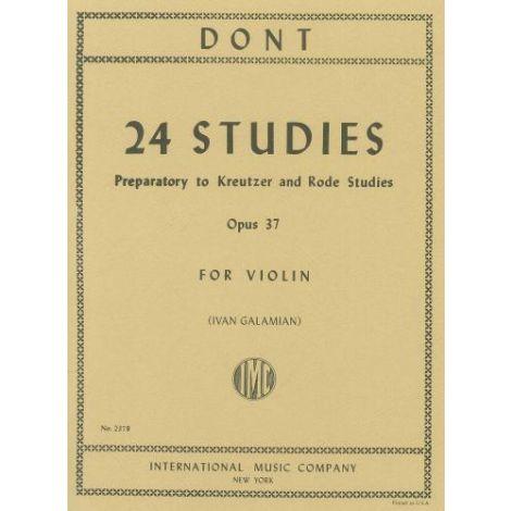 Dont: 24 Preparatory Studies Op.37 (Violin), ed. G