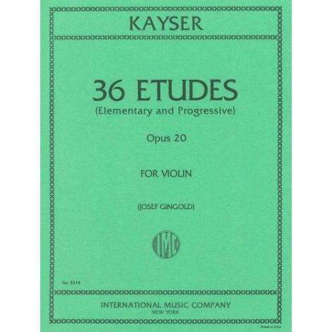 Kayser: 36 Etudes (Elementary & Progressive) Op.20