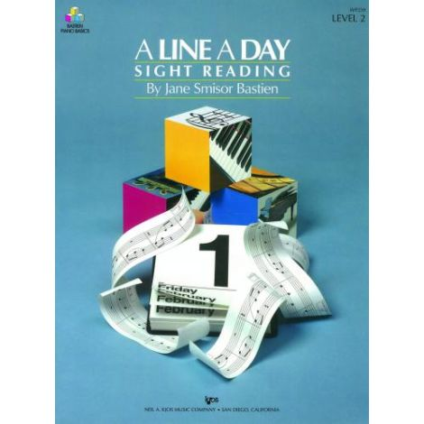 Bastien: A Line A Day Sight Reading  Level 2 (Pian