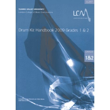 LCM London College of Music DRUM KIT HANDBOOK GRADES 1 & 2 (WITH CD) 2009 ONWARDS