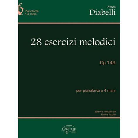 Anton Diabelli: 28 Esercizi Melodici, Op.149, per Pianoforte a 4 Mani