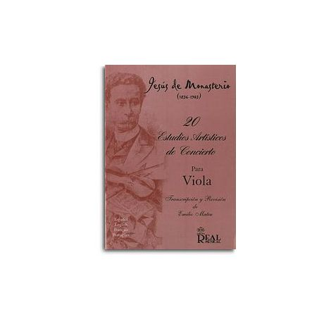 Jes闂 de Monasterio: 20 Estudios Art闂備焦鍎抽弫鍓噄cos de Concierto para Viola