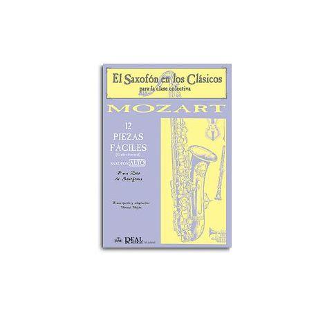 Wolfgang Amadeus Mozart: 12 Piezas F闁荤姴閸忔les (Grado Elemental) para Saxof闁荤姵鍔楅悵 Alto.