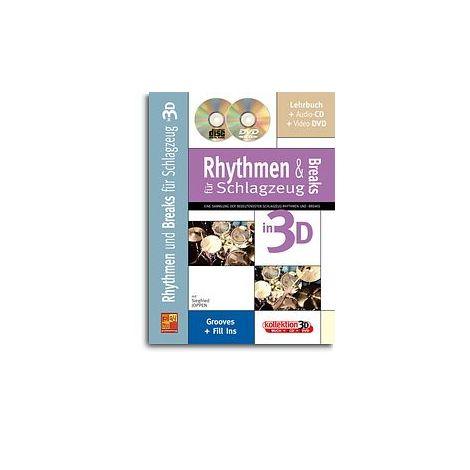 Rhythmen und Breaks f闂佹眹鈧 Schlagzeug in 3D