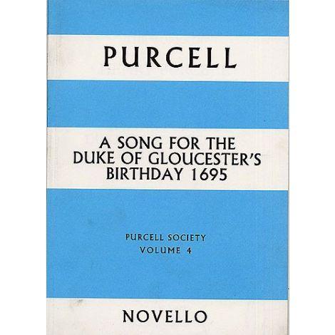 Purcell: Society Volume 4 - Song For The Duke Of Gloucester's Birthday 1695 (Full Score)