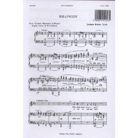 Johannes Brahms: Alto Rhapsody (Vocal Score)