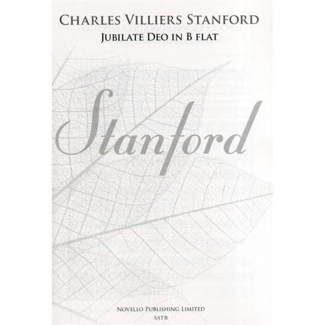 Charles Villiers Stanford: Jubilate Deo In B Flat Op.10 (New Engraving)