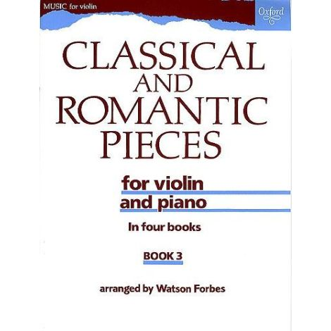 Classical and Romantic Pieces for Violin Book 3 (V