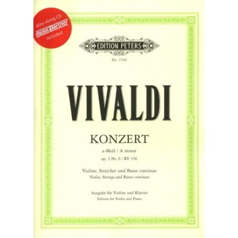VIOLIN CONCERTO IN A MINOR OP.3 NO. 6 RV356 (WITH CD)