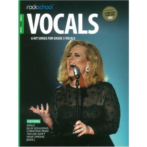 ROCKSCHOOL FEMALE VOCAL GRADE 3 VCE BOOK & ONLINE AUDIO
