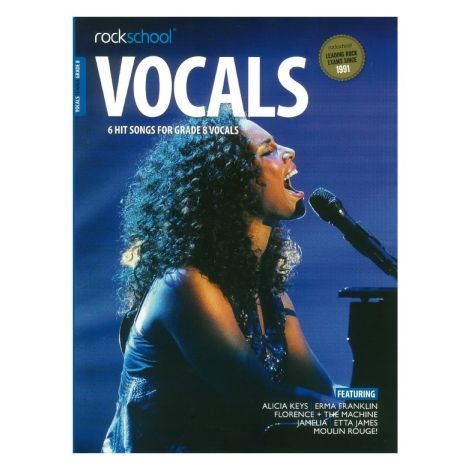 ROCKSCHOOL FEMALE VOCAL GRADE 8 VCE BOOK & ONLINE AUDIO
