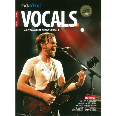 ROCKSCHOOL MALE VOCAL GRADE 5 VOICE BOOK & ONLINE AUDIO