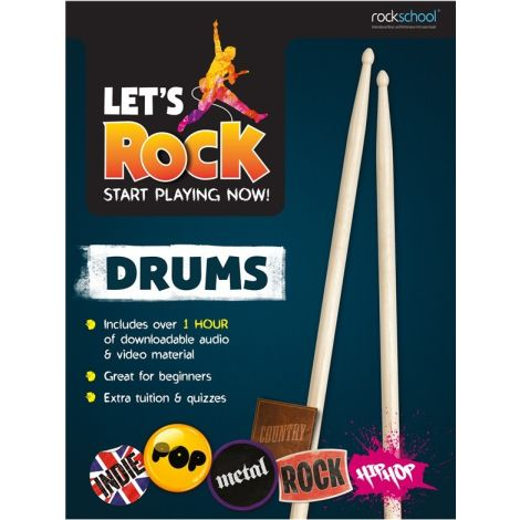 ROCKSCHOOL LETS ROCK START PLAYING NOW DRUMS BK/AUDIO ONLINE