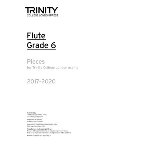 Trinity Flute Exams 2017-2020 Grade 6 Part Only