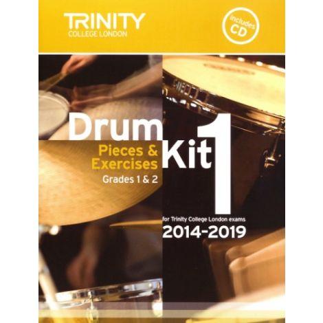 Trinity Drum Kit 1 - Pieces & Studies 2014-2019 Grades 1-2 (with CD)