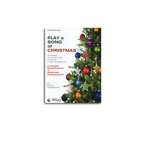 Play A Song Of Christmas - Variable Mixed Ensemble Or Solo With Accompaniment (Viola)