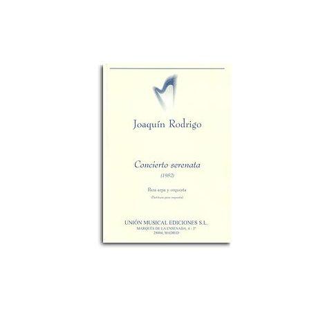 Rodrigo: Concierto Serenata Para Arpa Y Orquesta (Miniature Score)