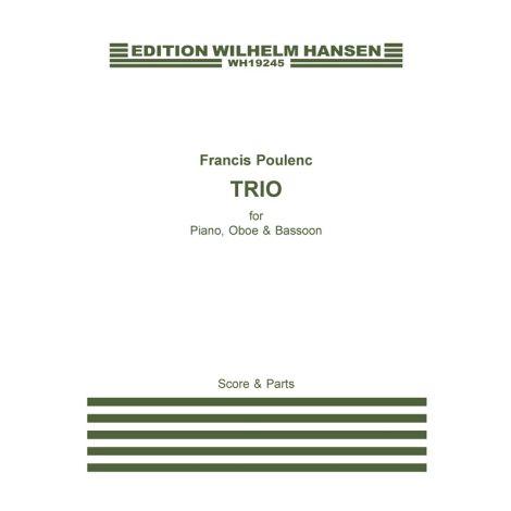 Francis Poulenc: Trio Pour Hautbois, Basson Et Piano