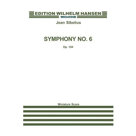 Jean Sibelius: Symphony No.6 Op.104 (Study Score)