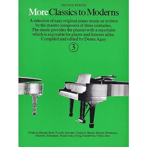 More Classics To Moderns Book 3 (Piano Solo)