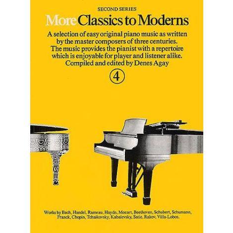 More Classics To Moderns Book 4 (Piano Solo)