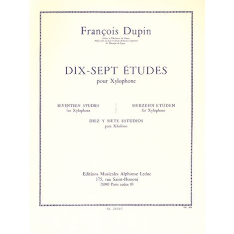 FRANÇOIS DUPIN: Seventeen Studies for Xylophone