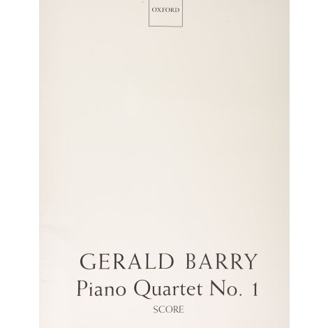 Gerald Barry Piano Quartet No. 1 - Score
