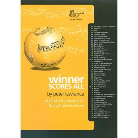 Winner Scores All for Bb Treble Clef Brass (Piano Accompaniment)