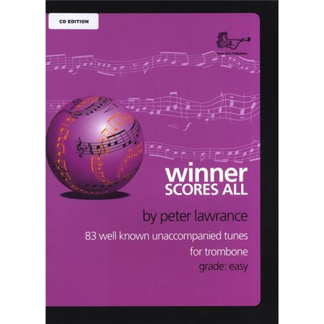 Winner Scores All for Trombone (Bass Clef) Solo Part with CD