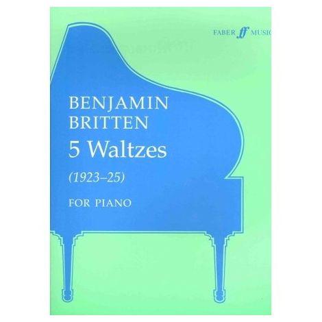 Britten: Five Waltzes (Piano Solo/Score)