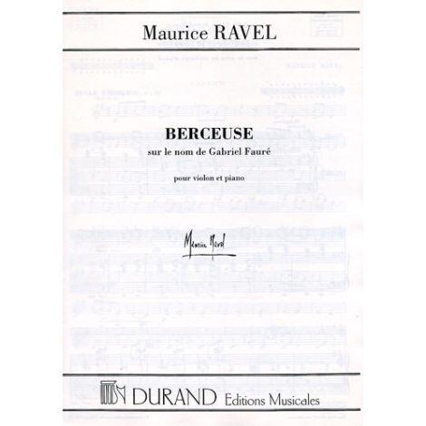 Ravel Berceuse sur le nom de Faure